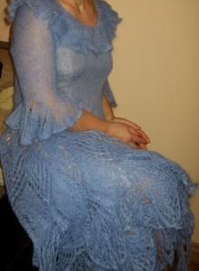 Melsva romantiška suknelė